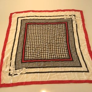 Gorgeous Christian Dior vintage scarf houndstooth